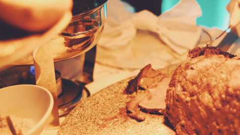 Herb Crusted Prime Rib Carving Station